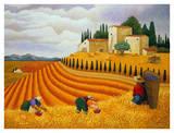 Mietitura al villaggio Arte di Lowell Herrero