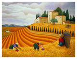 Village Harvest Art by Lowell Herrero