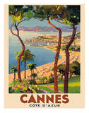 Cannes - Côte d'Azur, France - French Riviera Giclee Print by Lucien Peri