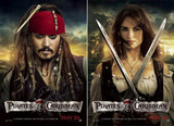Pirates of the Caribbean: On Stranger Tides (Johnny Depp, Penelope Cruz) Movie Poster Poster