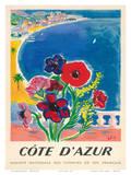 Société Nationale des Chemins de fer Français - Côte d'Azur, France Prints by  Tal
