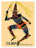 Cuba - Alegre Como Su Sol (Cheerful as Her Sun) - Native Folk Dancer Posters av Luis Vega De Castro