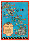 Territory of Hawaii Map Prints by Ruth Taylor White