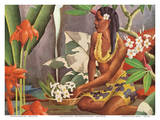 Hawaiian Wahine (Woman) - Dole Pineapple Company Print by Lloyd Sexton