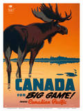 Canada for Big Game! Travel Canadian Pacific Railway Prints by P. Ewart