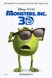Monsters Inc. 3D Movie Poster Póster