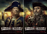 Pirates of the Caribbean: On Stranger Tides (Geoffrey Rush, Ian McShane, Johnny Depp) Movie Poster Plakaty