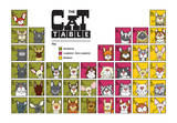 The Cat Table Prints by  Angry Squirrel Studio