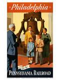 Philadelphia - Go by... Pennsylvania Railroad Poster by Kirt Baab