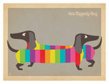 Mod Rainbow Dogs Prints by  Anderson Design Group
