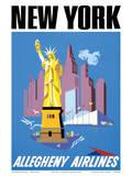 New York - Allegheny Airlines Kunst