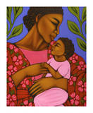 African Mother and Baby Poster par Tamara Adams
