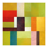 Color Study Abstract 2 Posters by Michelle Calkins