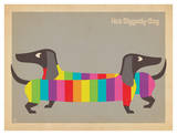 Mod Rainbow Dogs Posters by  Anderson Design Group
