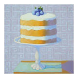 Blueberry Cream Torte Prints by Patricia Doherty