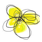 Yellow Petals Two Poster par Jan Weiss