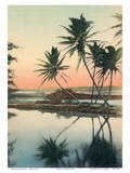 Coconut Lagoon - Hawaii & South Seas Curio Company Poster