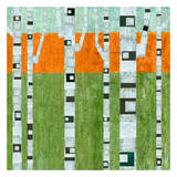 Spring Birches Print by Michelle Calkins