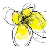 Yellow Petals Three Art by Jan Weiss