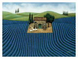 Lavender Field Prints by Lowell Herrero