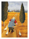 Lady with Fresh Bread Affiches par Lowell Herrero