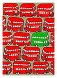 Odd Ones - Green Double Decker Prints by Duncan Wilson