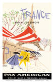 Pan American Airlines (PAA) - France and All Of Europe Posters by A. Amspoker