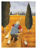 Lady with Fresh Bread Posters by Lowell Herrero