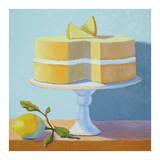 Double Layer Lemon Cake Affiche par Patricia Doherty