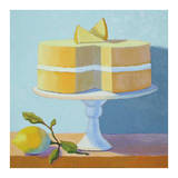 Double Layer Lemon Cake Print by Patricia Doherty