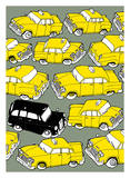Odd Ones - Black Cab Posters by Duncan Wilson