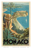 Monaco - Monte Carlo, French Riviera Prints by E. Clerissi