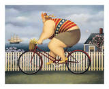 Mary's New Bike Prints by Lowell Herrero