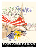 Pan American Airlines (PAA) - France and All Of Europe Giclee Print by A. Amspoker