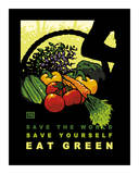 Eat Green Posters by Laura Wilder