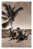 Hula Dancers on the Beach, Hawai'i Láminas por Alan Houghton