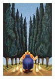 Cypress and Geese Print by Lowell Herrero