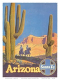 Santa Fe Railroad - Arizona Posters by Don Perceval