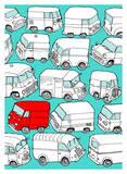 Odd Ones - Red Van Posters by Duncan Wilson