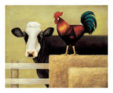 Barnyard Cow Poster by Lowell Herrero