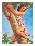 Pick of the Crop (Up a Tree) - Hawaiian Pin Up Girl Lámina giclée por Gil Elvgren