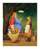 Market Day Print by Lowell Herrero
