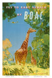 Frank Woutton - British Overseas Airways Corporation - Fly to East Africa by BOAC - Giraffes Obrazy