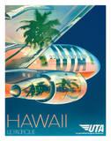 Union de Transports Aériens (UTA) - Hawaii, Le Pacifique (The Pacific) Lámina giclée