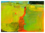 Orange Path Prints by Paul Bailey