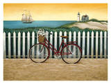Cycle to the Beach Poster by Lowell Herrero