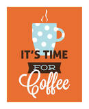 Coffee Time (Orange) Print by Genesis Duncan