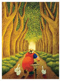Home from the Market Print by Lowell Herrero