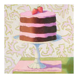 Chocolate Strawberry Torte Affiches par Patricia Doherty