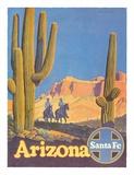 Santa Fe Railroad - Arizona Wydruk giclee autor Don Perceval